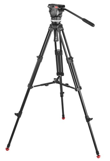 Sachtler Ace M fluid head and tripod