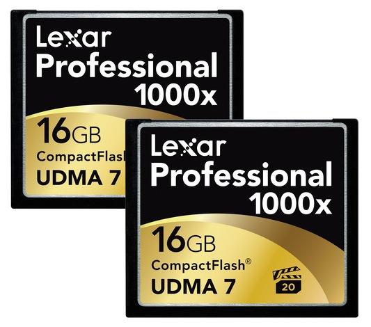Lexar 16GB CompactFlash Memory Card Professional 1000x
