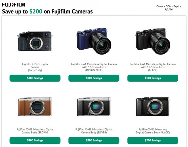 Fujifilm X-Series Camera Instant Rebates