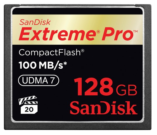 SanDisk 128GB Extreme Pro CF Card