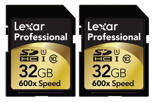 Lexar Pro 32GB 2-Pack SDHC