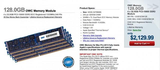 Mac Pro 128GB RAM