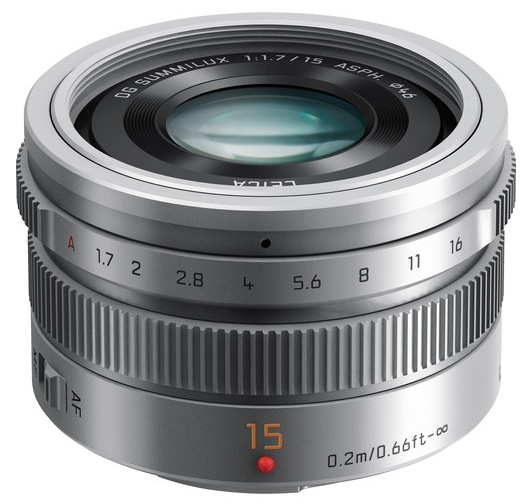 Panasonic Leica Summilux 15mm f1.7 Micro Four Thirds Lens