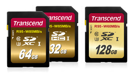 Transcend Speed UHS-I Class 3 SD Cards