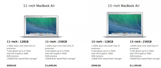 Apple MacBook Air Spring 2014