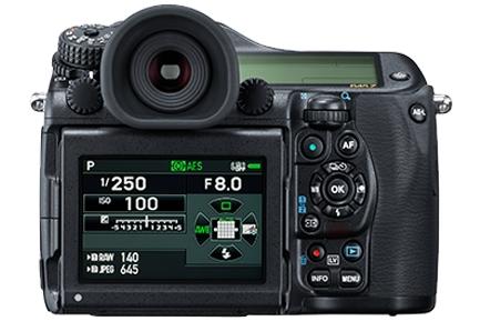 Pentax 645Z LCD