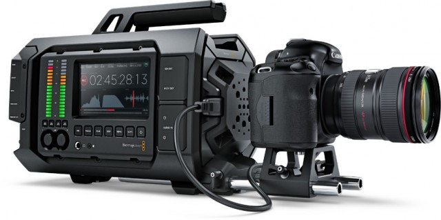 Blackmagic URSA HDMI Model configured with a Canon 5D Mark III recording directly to the URSA over HDMI