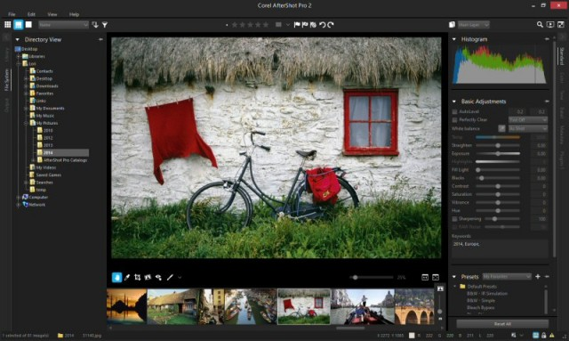 AfterShot Pro 2 Interface