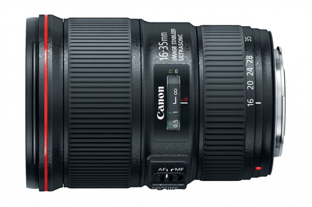 Canon 16-35mm f4L IS USM side