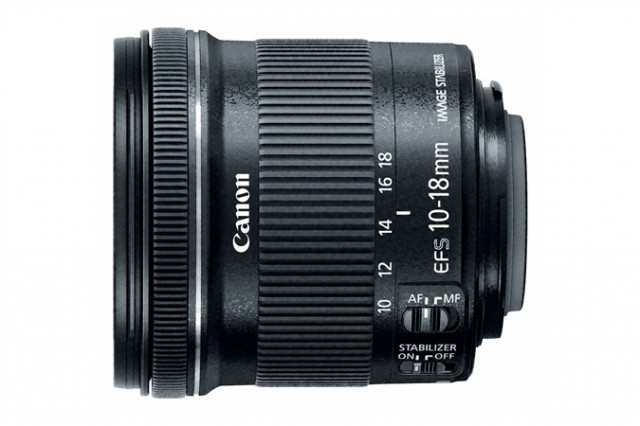 Canon EF-S 10-18mm STM side
