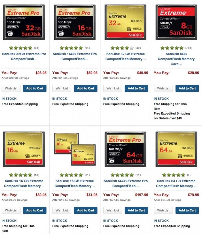SanDisk CF Cards
