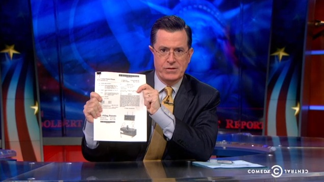 Stephen Colbert Patent