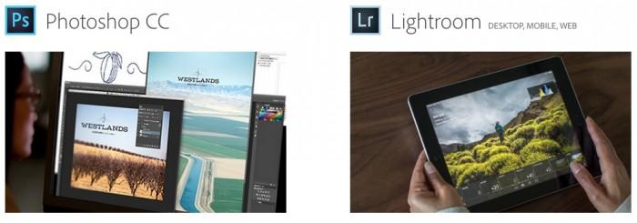 Creative Cloud Photoshop and Lightroom