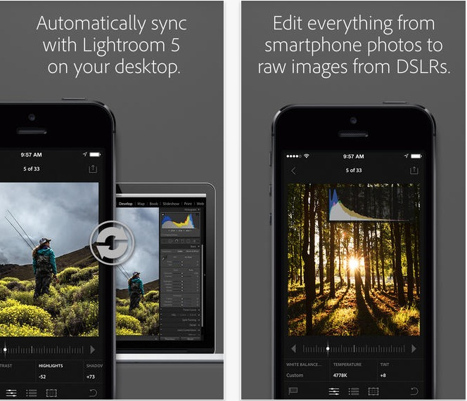 Lightroom Mobile for iPhone