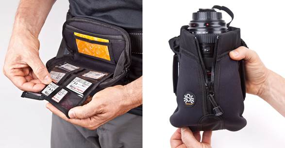 Spider Holster Memory Card Organizer and Medium Lens Pouch