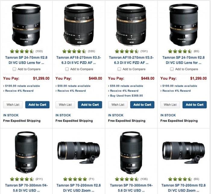 Tamron Lens Rebates
