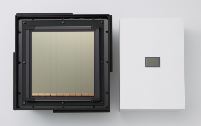 Canon 8-inch Sensor Next to 35mm Sensor