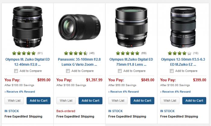 Olympus Lens Sale