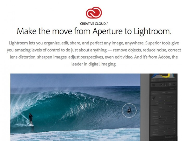 Switch from Aperture to Lightroom