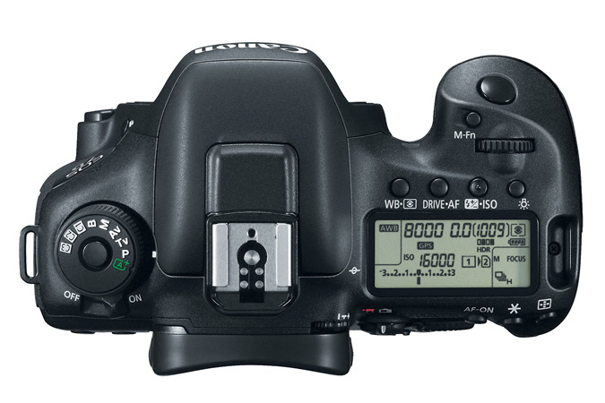 Canon 7D Mark II Top