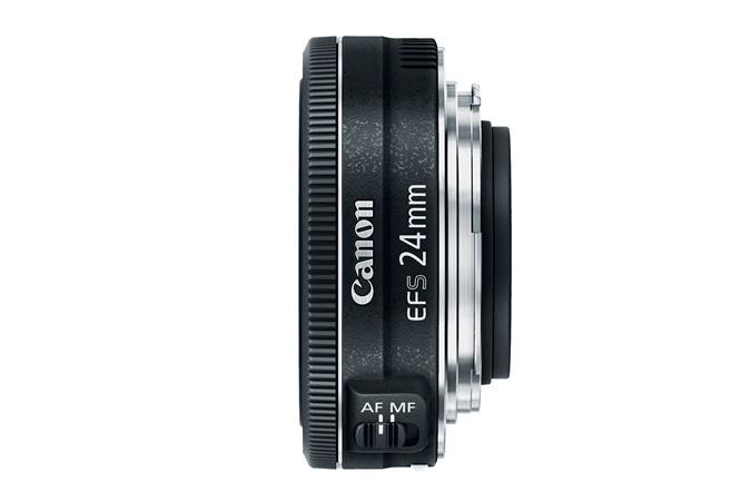 Canon EF-S 24mm f2.8 STM Lens Side