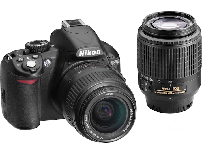 Nikon D3100 with 18-55mm and 55-200mm Lenses