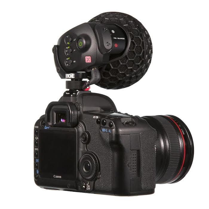 Rode Stereo VideoMic X Back