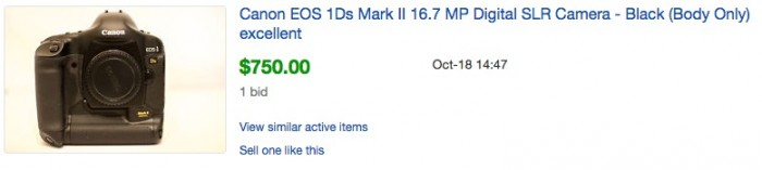 1Ds Mark II Auction