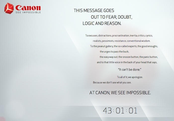 Canon Impossible Teaser