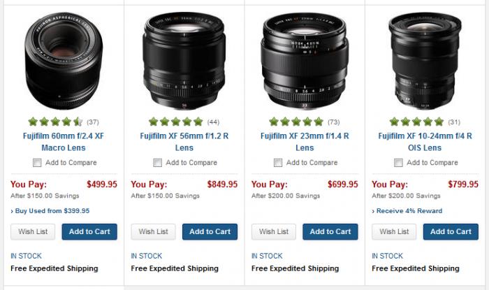 Fuji XF Lens Deals