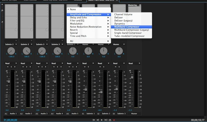 Premiere Pro Audio Track Mixer
