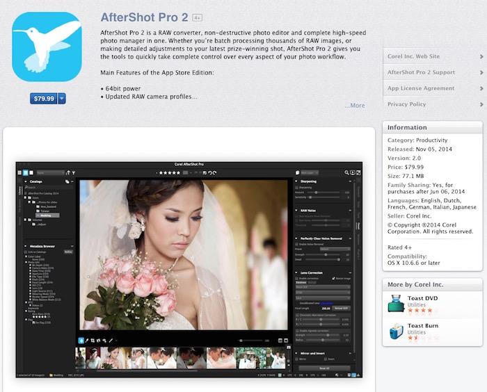 AfterShot Pro 2 Mac App Store
