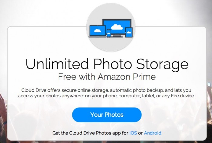 Amazon Unlimited Photo Storage