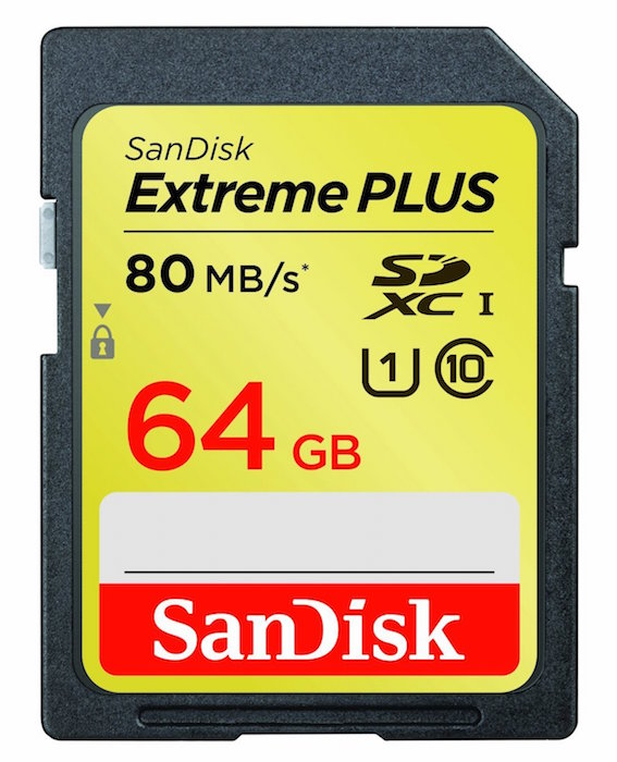 SanDisk 64GB Extreme Plus SDXC Memory Card