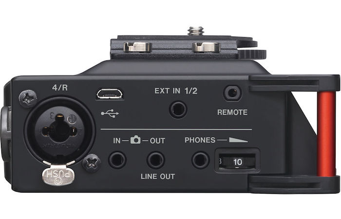 Tascam DR-70D Side Controls