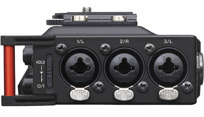 Tascam DR-70D Side XLR