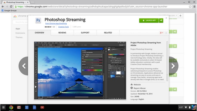 Adobe Photoshop Streaming