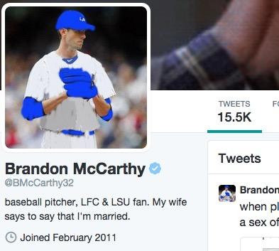 Brandon McCarthy on Twitter