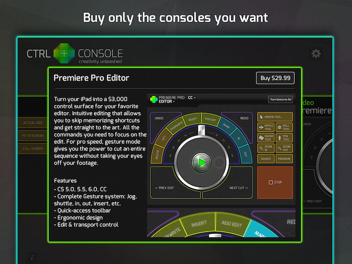 CTRL+Console Premiere Purchase