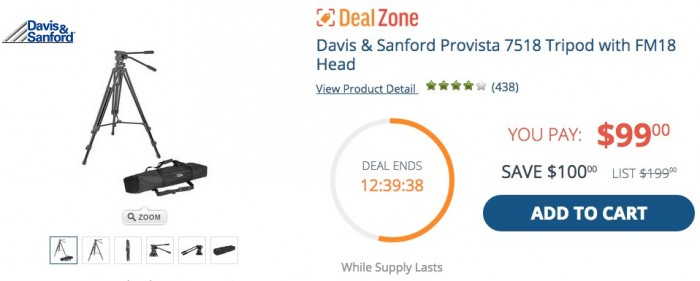 Davis Sanford Video Tripod Deal