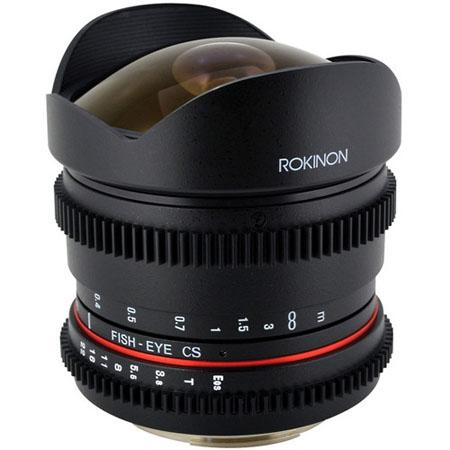 Rokinon 8mm T3.8 Fisheye Cine Lens
