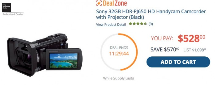Sony HDR-PJ650 Deal Zone