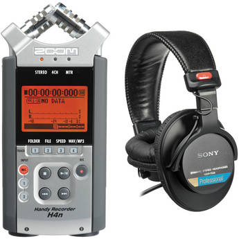 Zoom H4n and Sony MDR-7506
