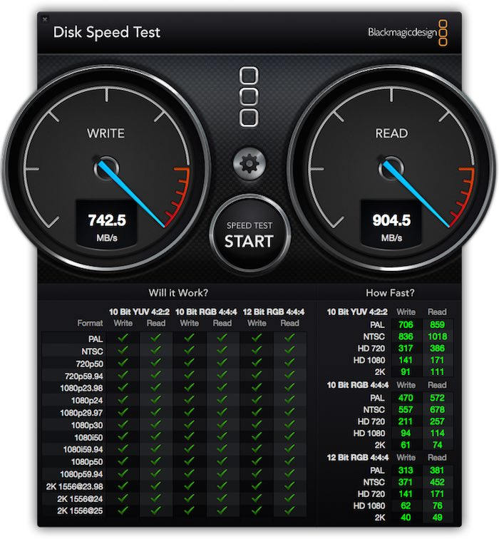 Mac Pro Internal Speed Test