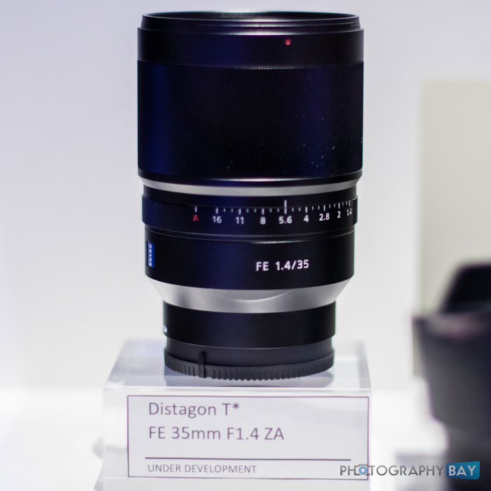 Sony FE Lenses CES 2015