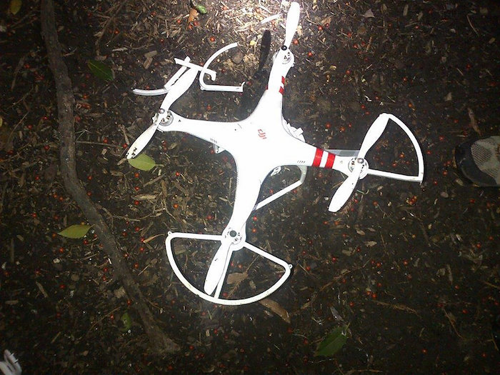 Crashed DJI Phantom on White House Lawn (via Secret Service)