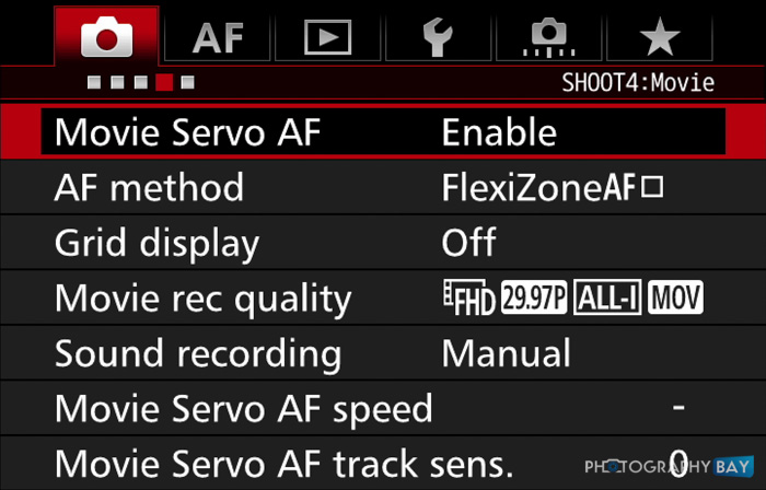 7D Mark II Movie Servo AF