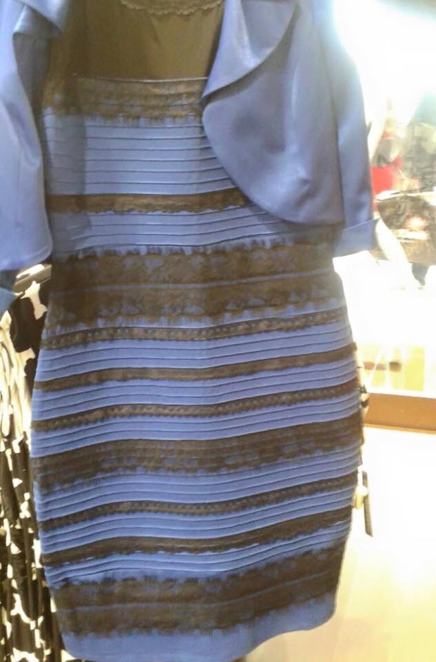 Blue and Black White and Gold Dress