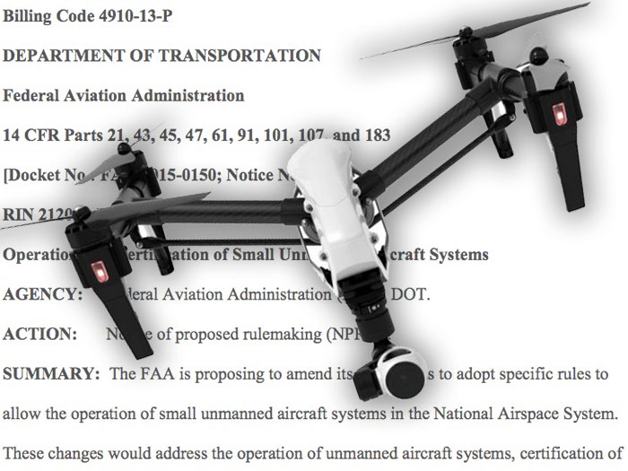 FAA Officially Proposes New Drone Regulations