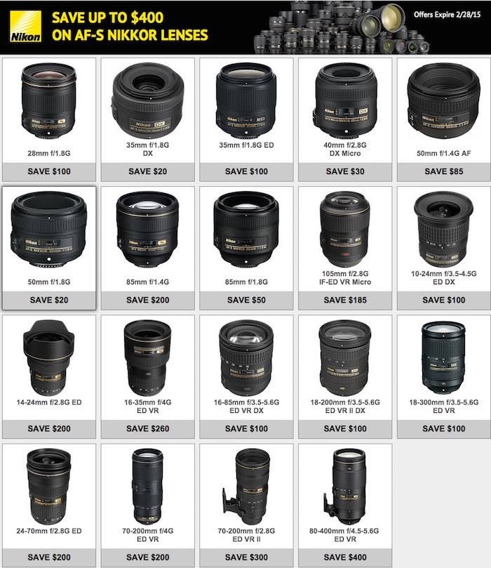 Nikon Instant Rebates 2.28.15